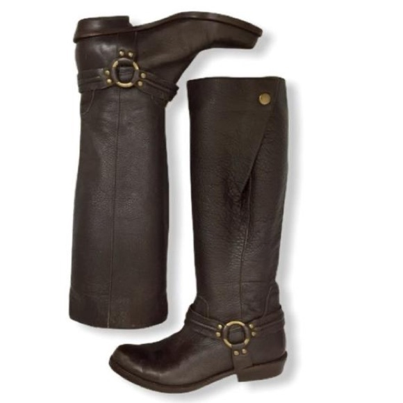 Franco Sarto Larriat Heeled Riding Boot in Brown